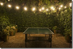 ping pong table, chateau marmont